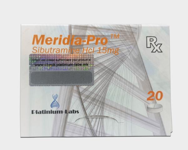 Meridia-Pro Sibutramine Hcl 15 mg